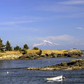 Brooks Point With Mt. Baker by Derek Holzapfel