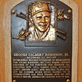 Brooks Robinson Hall Of Fame Plaque by Christopher Miles Carter