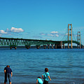 Brothers At The Bridge by Jeff Kurtz