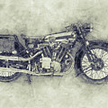 Brough Superior Ss100 - 1924 - Motorcycle Poster 1 - Automotive Art by Studio Grafiikka