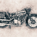 Brough Superior Ss100 - 1924 - Motorcycle Poster - Automotive Art by Studio Grafiikka