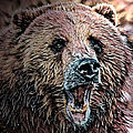 Brown Bear by Artful Oasis