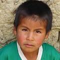 Brown Eyed Bolivian Boy by Lew Davis