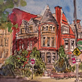 Brownstone On Corcoran Street by Elissa Poma