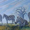 Browsing Zebras by Anthony Mwangi