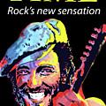 Bruce Springsteen Time Magazine Cover 1980s by Allen Beilschmidt