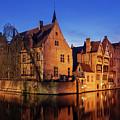 Bruges Architecture At Blue Hour by Barry O Carroll