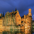 Bruges At Night, Belgium by Henk Meijer Photography