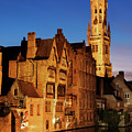 Bruges Belfry At Night by Barry O Carroll