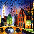 Bruges Belgium by Leonid Afremov