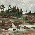 Bruno Liljefors,   Landscape From Uppland by Bruno Liljefors
