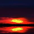 Brush Fire Sunset by Mark Andrew Thomas