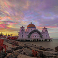 Brush Stroke Cloud Over Selat Mosque by Kamrul Arifin Mansor