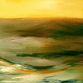 Brushed 4 - Vertical Sunset by Gina De Gorna