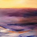 Brushed 6 - Vertical Sunset by Gina De Gorna