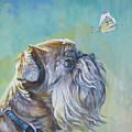 Brussels Griffon With Butterfly by Lee Ann Shepard
