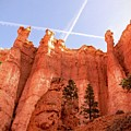 Bryce Canyon Hoodoos With Contrails by Rincon Road Photography By Ben Petersen