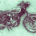 Bsa Gold Star 3 - 1938 - Motorcycle Poster - Automotive Art by Studio Grafiikka