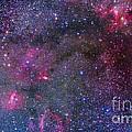 Bubble Nebula And Cave Nebula Mosaic by Alan Dyer