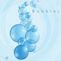 Bubbles In Blue by Alain De Maximy