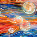 Bubbles In Tumult by Cynthia Paul