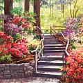 Buchart Garden Stairway by Laurie Snow Hein