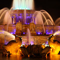 Buckingham Fountain At Night by Laura Kinker
