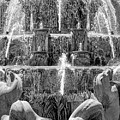 Buckingham Fountain Closeup Black And White by Christopher Arndt