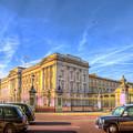 Buckingham Palace And London Taxis by David Pyatt