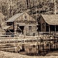 Bucks County - Cuttalossa Mill In Sepia by Bill Cannon