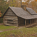 Bud Ogle Cabin Fall  by Harold Stinnette