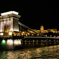 Chain Bridge And  Buda Castle  by Lisa Lemmons-Powers