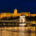 Budapest At Night - Chain Bridge And Buda Castle by Matthias Hauser