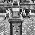 Budapest Cityscope Black And White by Sharon Popek