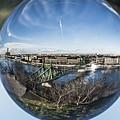 Budapest Globe - Liberty Bridge by Gabor Tokodi