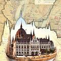 Budapest Globe Map by Sharon Popek