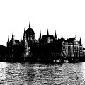 Budapest Parliament Building Silhouette by Sharon Popek