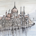 Budapest Parliament by Kate Loveridge