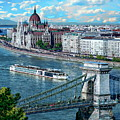 Budapest River View by Anthony Dezenzio