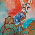Buddha And The Divine Kit Fox No. 1373 by Ilisa Millermoon