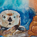 Buddha And The Divine Otter No. 1374 by Ilisa Millermoon