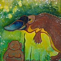 Buddha And The Divine Platypus No. 1375 by Ilisa Millermoon