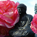 Buddha And Roses by Eric Singleton