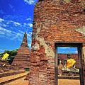 Buddha Doorway At Wat Worachetha Ram In Ayutthaya, Thailand by Sam Antonio Photography