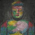Buddha Encaustic Painting by Edward Fielding