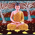 Buddha In Forest  by Arttantra