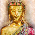 Buddha Peace Love And Light by Ray Van Gundy