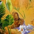 Buddha Sculp by Lin Petershagen
