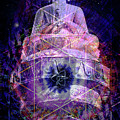 Buddha Spinning In A Merkaba by Rebecca Dru