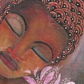 Buddha With Pink Lotus by Prerna Poojara